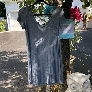 Blue/Gray American Eagle Cross Back Tshirt Dress
